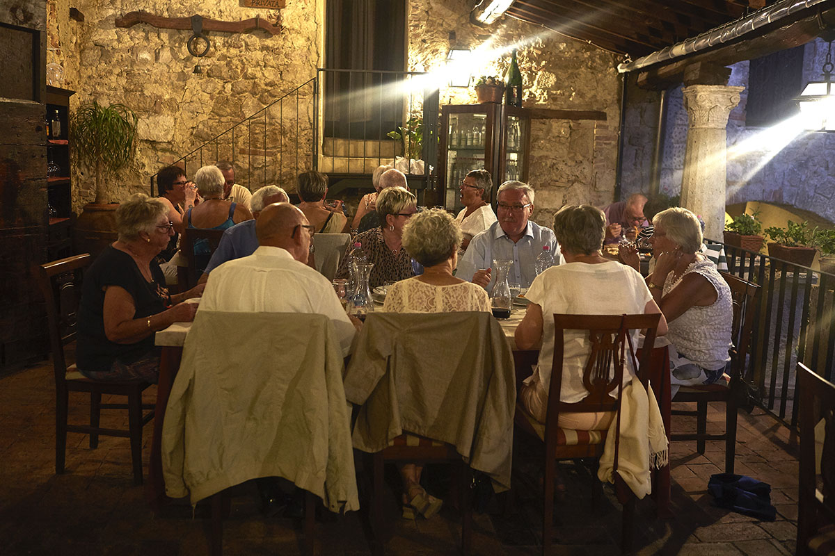 Groups and tour operators - Typical tuscan restaurant in Sarteano - Cloister terrace 1
